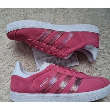 Nowe Adidas Gazelle 37 1/3 różowe damskie retro