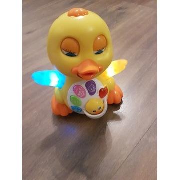Interaktywna kaczuszka zabawka dla dzieci jeździ