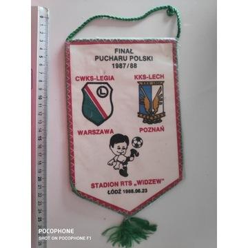 Proporczyk Legia Warszawa - Lech Poznań 1988