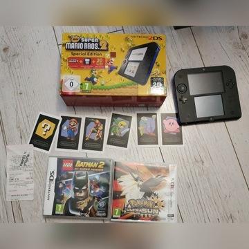 Konsola Nintendo 2DS w zestawie z 2 grami