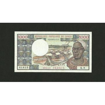 KONGO 1000 FRANKÓW 1982 P#3e XF-AUNC