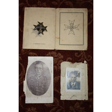 Odznaka Artylerji Konnej oraz legitymacja zdjęcia
