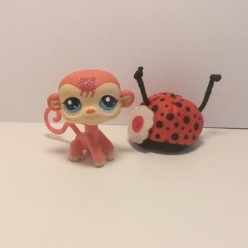 Figurka lps Little pet shop małpa z brokatem