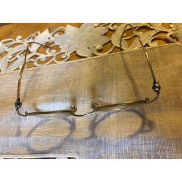 Okulary aston Martin vitage stare pozłacane