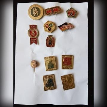 Odznaki krajowe i zagraniczne z poprzecznej epoki