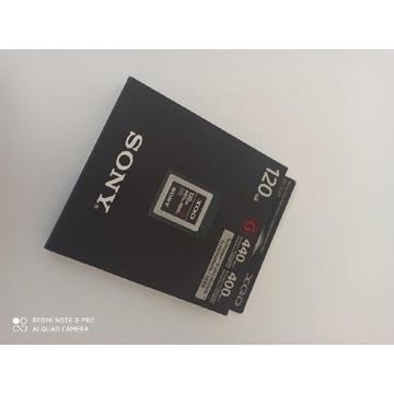 Karta pamięci xqd 120gb Sony NOWA