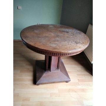 Stół okrągły dąb do renowacji
