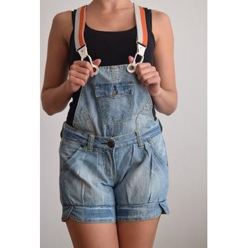 Ogrodniczki jeansowe na szelkach. Szorty 2w1