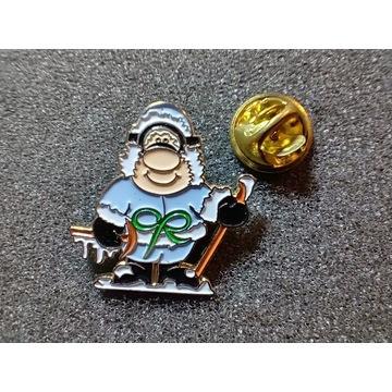 Przypinka, badges; alpinista