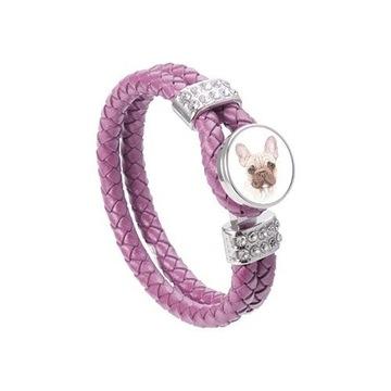 Biżuteria bransoletka pies amstaff labrador buldog