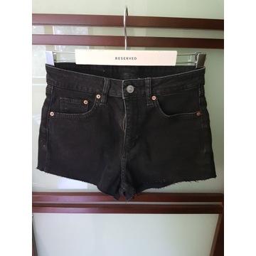 Czarne jeansowe szorty h&m 38