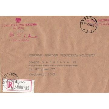Myślibórz - Koperty listów poleconych 1960-80