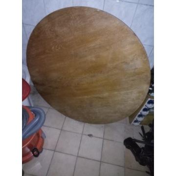 Stół okrągły rozkładany PRL