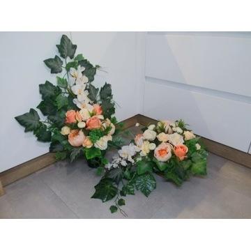Komplet kompozycja stroik na grób cmentarz pomnik