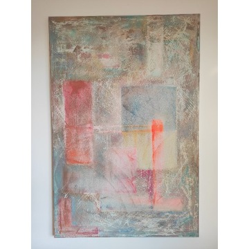 Obraz 120x80, abstrakcja, malowany ręcznie