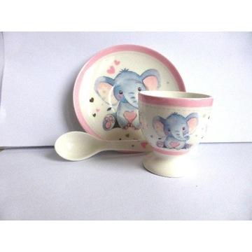 Porcelanowy zestaw naczyń dla dziecka