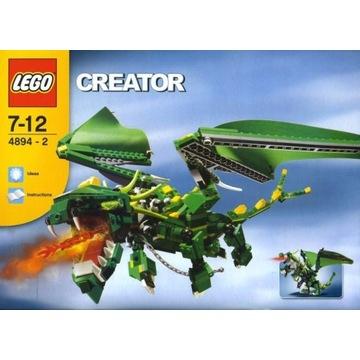 Lego creator 4894. Dinozaury i inne stwory. Unikat