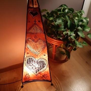 Marokańska lampa z koziej skóry