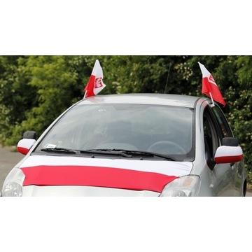 Flaga na lusterka samochodowe POLSKA i inne