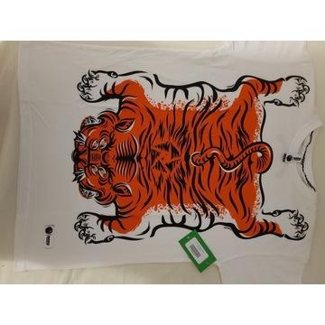 T-shirt Rush Tiger white/ koszulka Dziedzic Pruski