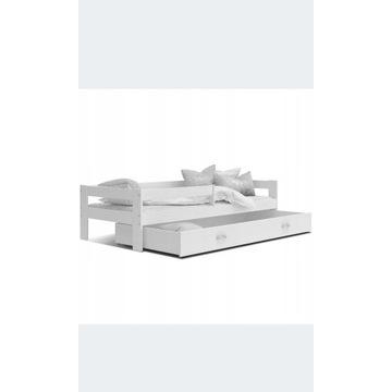 Łóżko parterowe Hugo 160x80 białe/nowe