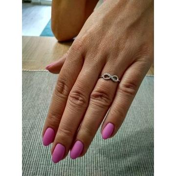 pierścionek srebrny 925 nieskończoność