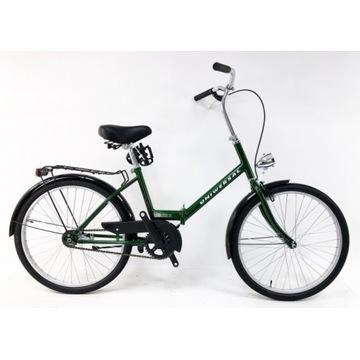 Rower Uniwersal Składak 24″  - zielony, niebiski