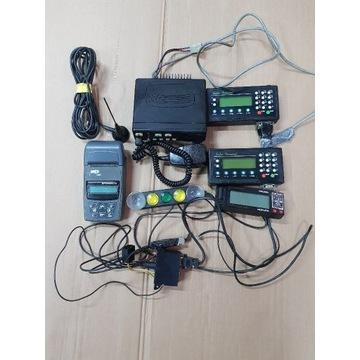 Zestaw taxi taksometr 2xcentrala radio kasą cezar