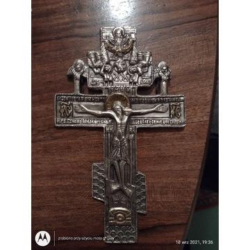 Krzyż Prawosławny Posrebrzany duzy tanio oryginał