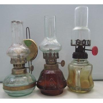 3 lampki naftowe, lampa naftowa