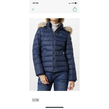 Tommy Jeans HOODED DOWN damska naturalny puch_XL