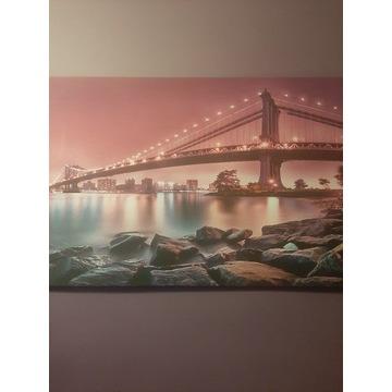 Fioletowy Obraz na płótnie 150x100 cm !
