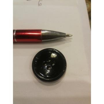 Czarny guzik średnica 25mm 4 dziurki Zestaw 10 szt