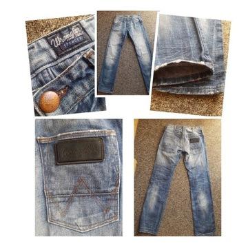 Spodnie Wrangler vintage rozmiar S pas 74cm
