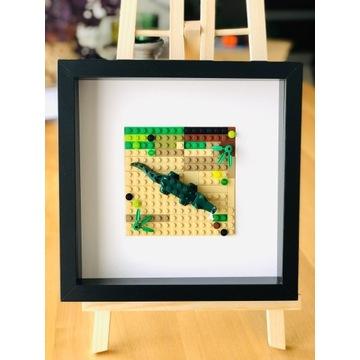 """LEGO_obraz """"Krokodyl""""_wyjątkowy prezent"""