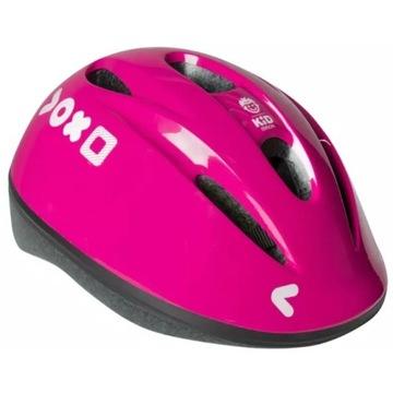 Różowy KASK na rower dla dzieci ok 3-10 lat 47-53c