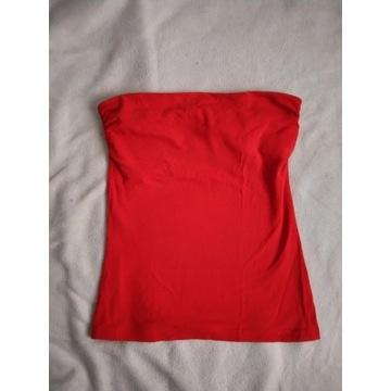 Top bluzka tuba H&M Basic czerwona r. 34 XS