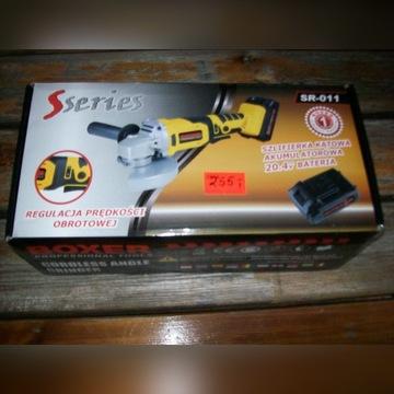 Szlifierka kątowa BOXER akumulatorowa 125mm  20,4