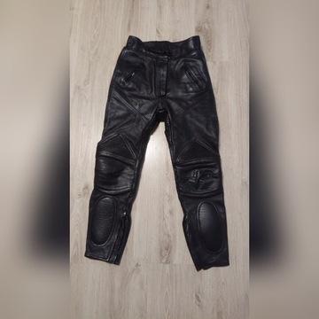 spodnie skórzane damskie na motor