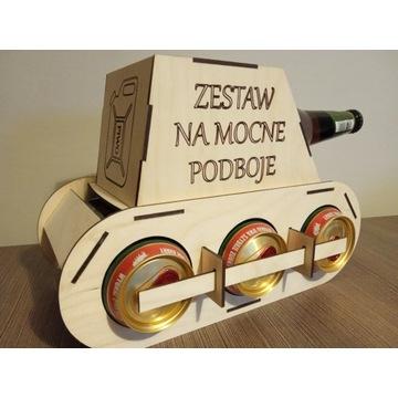 Czołg piwosza, prezent, drewniany czołg na alkohol