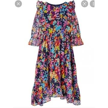 Moonson sukienka falbanki 8T 134 next zara