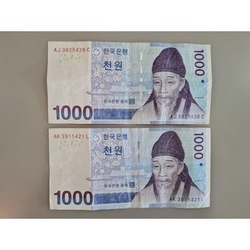 Korea Południowa - 1000 Won