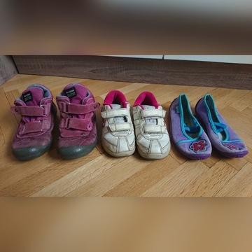 3 pary butów dla dziewczynki