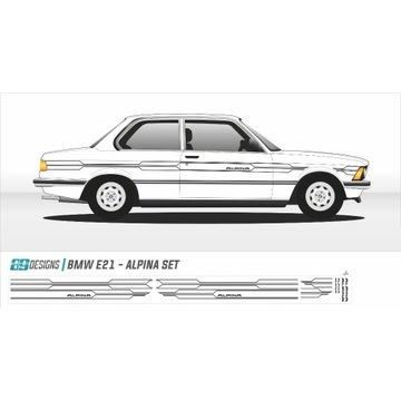 BMW E21 Alpina - dekory, naklejki, classic