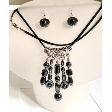 Hematyt-kamień odwagi, unikatowy zestaw biżuterii