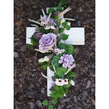 Stroik na grób cmentarz sztuczne kwiaty