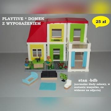 Playtive domek z wyposażenie