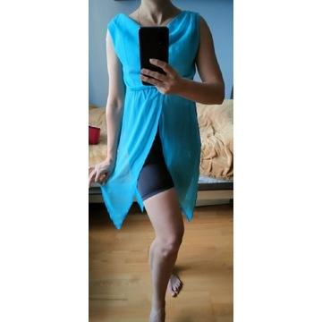 Niebieski strój do tańca jazz modern 36 S