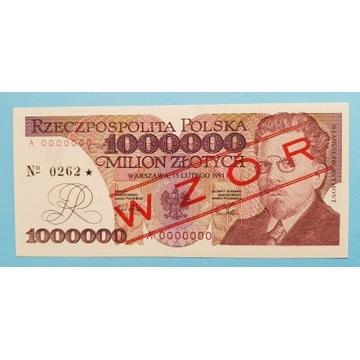 1000000 złotych seria A1991 rok WZÓR stan UNC