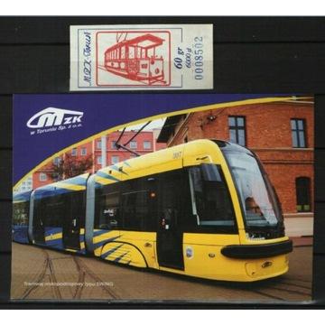 Tramwaj + bilet okolicz 60 gr/6000 zł + pocztówka